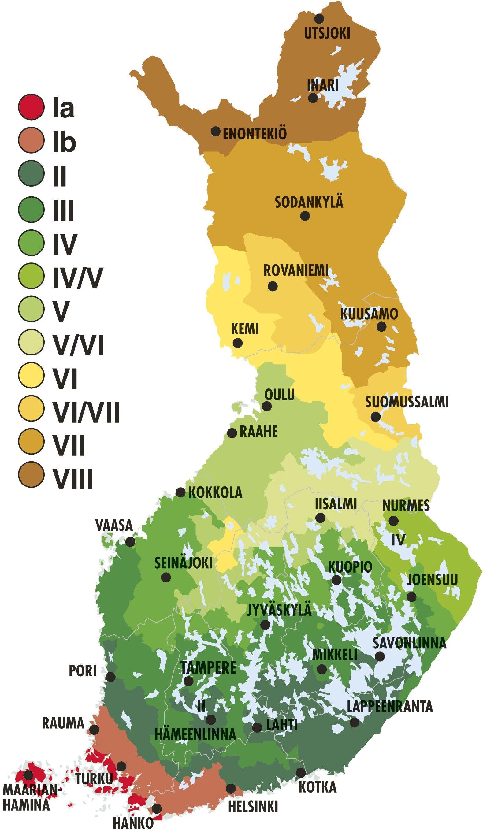 Kasvuvyöhykkeet Suomi